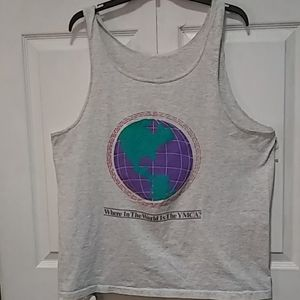 VTG 90'S WHERE IN THE WORLD IS THE YMCA TANK TOP L